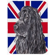Caroline's Treasures Union Jack Cocker Spaniel with English British Flag Glass Cutting Board