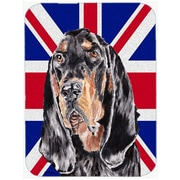 Caroline's Treasures Union Jack Coonhound with English British Flag Glass Cutting Board