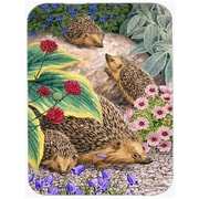 Caroline's Treasures Hedgehogs Glass Cutting Board
