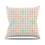KESS InHouse Pastel Houndstooth Outdoor Throw Pillow