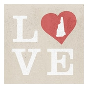 ReplayPhotos New Hampshire State Love Textual Art on Wrapped Canvas