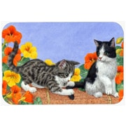 Caroline's Treasures Kittens on Wall Glass Cutting Board