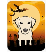 Caroline's Treasures Halloween Labrador Glass Cutting Board; Yellow