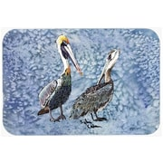 Caroline's Treasures Double Trouble Pelicans Glass Cutting Board