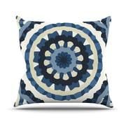 KESS InHouse Ribbon Mandala Outdoor Throw Pillow