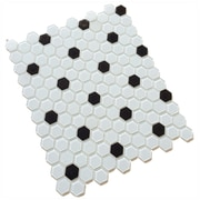 Upscale Designs by EMA Contractor Pack 12'' x 12'' Glass Mosaic Tile in White/Black