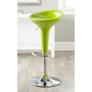 Safavieh Adjustable Height Swivel Bar Stool; Lime Green