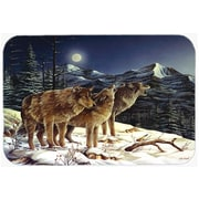 Caroline's Treasures Wolf Wolves Crying at the Moon Glass Cutting Board