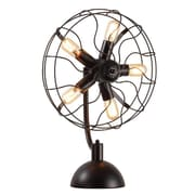 UrbanHomeIndustrial 5 Light Vintage Fan 25'' Table Lamp