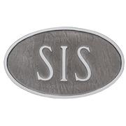 Montague Metal Products Standard Hamilton Address Plaque; Swedish Iron/Silver