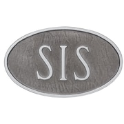 Montague Metal Products Standard Fitzgerald 1 Line Address Plaque; Swedish Iron/Silver