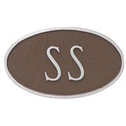 Montague Metal Products Standard Fitzgerald 1 Line Address Plaque; Sand/Silver