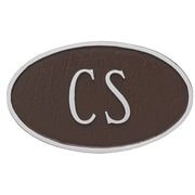 Montague Metal Products Standard Fitzgerald 1 Line Address Plaque; Chocolate/Silver