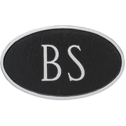Montague Metal Products Standard Fitzgerald 2 Line Address Plaque; Black/Silver