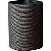 LaMont Hand Spun Wastebasket; Black