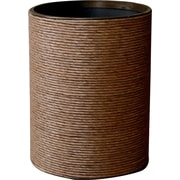 LaMont Hand Spun Wastebasket; Dark Honey