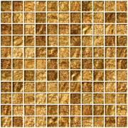 SusanJablon 1'' x 1'' Glass Mosaic Tile in Golden Rust
