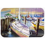 Caroline's Treasures Sailboats at the Fairhope Yacht Club Docks Glass Cutting Board
