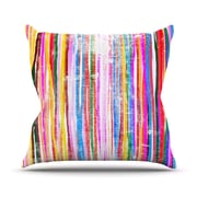 KESS InHouse Fancy Stripes Outdoor Throw Pillow; Pastel