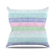 KESS InHouse Beach Wood Outdoor Throw Pillow; Pastel