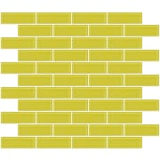 SusanJablon 1'' x 3'' Glass Subway Tile in Light Lime Green