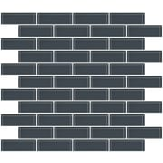 SusanJablon 1'' x 3'' Glass Subway Tile in Medium Gray