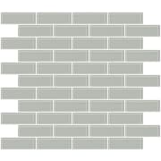SusanJablon 1'' x 3'' Glass Subway Tile in Light Gray