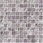 SusanJablon 1'' x 1'' Glass Mosaic Tile in Lavender Pearl