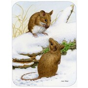 Caroline's Treasures Wood Mice Wood Mouse Glass Cutting Board