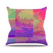KESS InHouse Impermiate Poster Outdoor Throw Pillow