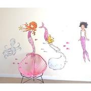 Pop & Lolli Sarah Jane Mermaids Wall Decal; Medium