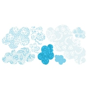 Pop & Lolli Lacey Clouds Wall Decal; Large