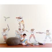 Pop & Lolli Sarah Jane Boy Pirates Wall Decal; Medium