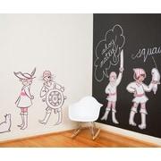 Pop & Lolli Sarah Jane Girl Pirates Wall Decal; Medium