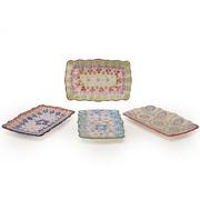 Signature Housewares Gypsy 4 Piece Rectangular Tray Set