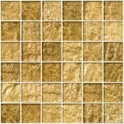 SusanJablon 2'' x 2'' Glass Mosaic Tile in Champagne