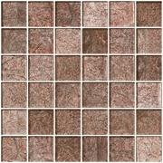 SusanJablon 2'' x 2'' Glass Mosaic Tile in Mocha Pearl