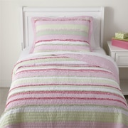 Birch Lane Kids Ragtag Pink Quilted Bedding Set; Twin