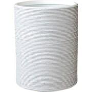 LaMont Hand Spun Wastebasket; White
