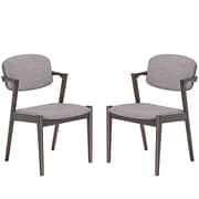 Modway Spunk Dining Arm Chair (Set of 2); Gray