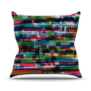 KESS InHouse Squares Traffic Outdoor Throw Pillow; Pastel