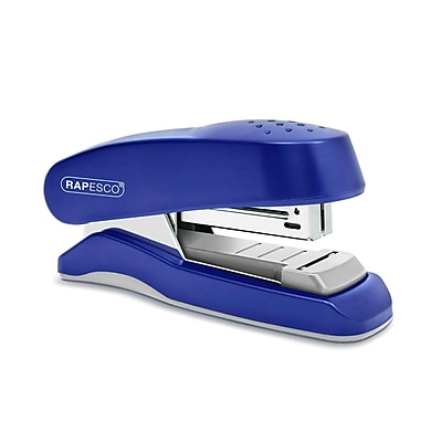 Rapesco Flat Clinch Half Strip Desktop Stapler, 6 mm, Blue (1143) 2123477