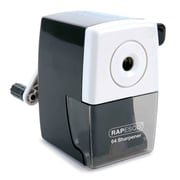 Rapesco® 64 Desktop Pencil Sharpener, Manual, Black (RAPR64000B2)