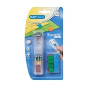 Rapesco® Supaclip® See-Through Dispenser W/Multi Colored Clips, 200 mm x 105 mm x 205 mm, 40 Sheet Capacity (RC4025MC)