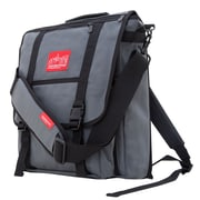 Manhattan Portage Commuter Laptop Bag with Back Zipper Grey (1417Z GRY)