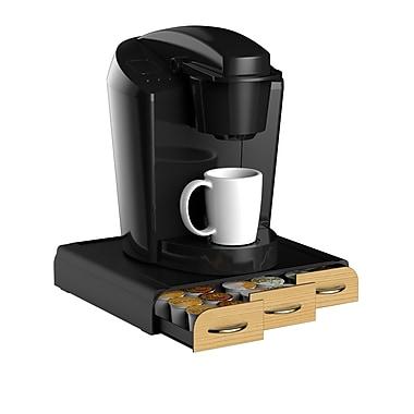 Mind Reader Anchor Wood Veneer Coffee Pod Storage Drawer For 36 K-Cup, Black