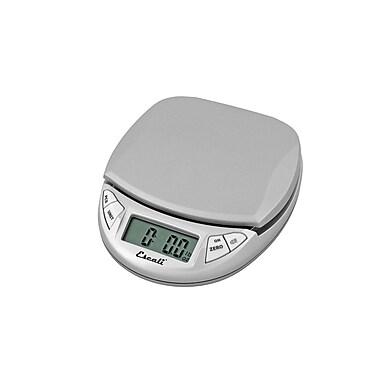 Escali Pico Digital Scale, 11 Lb 5 Kg, Silver Gray