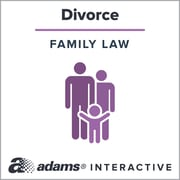 Adams [New Jersey] Divorce Forms, 1-User, Instant Web Downloaded Form
