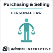 Adams® Automobile Bill of Sale, 1-Use Interactive Digital Legal Form