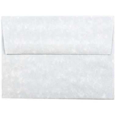 JAM Paper® A6 Invitation Envelopes, 4.75 x 6.5, Parchment Blue Recycled, 25/pack (10296)